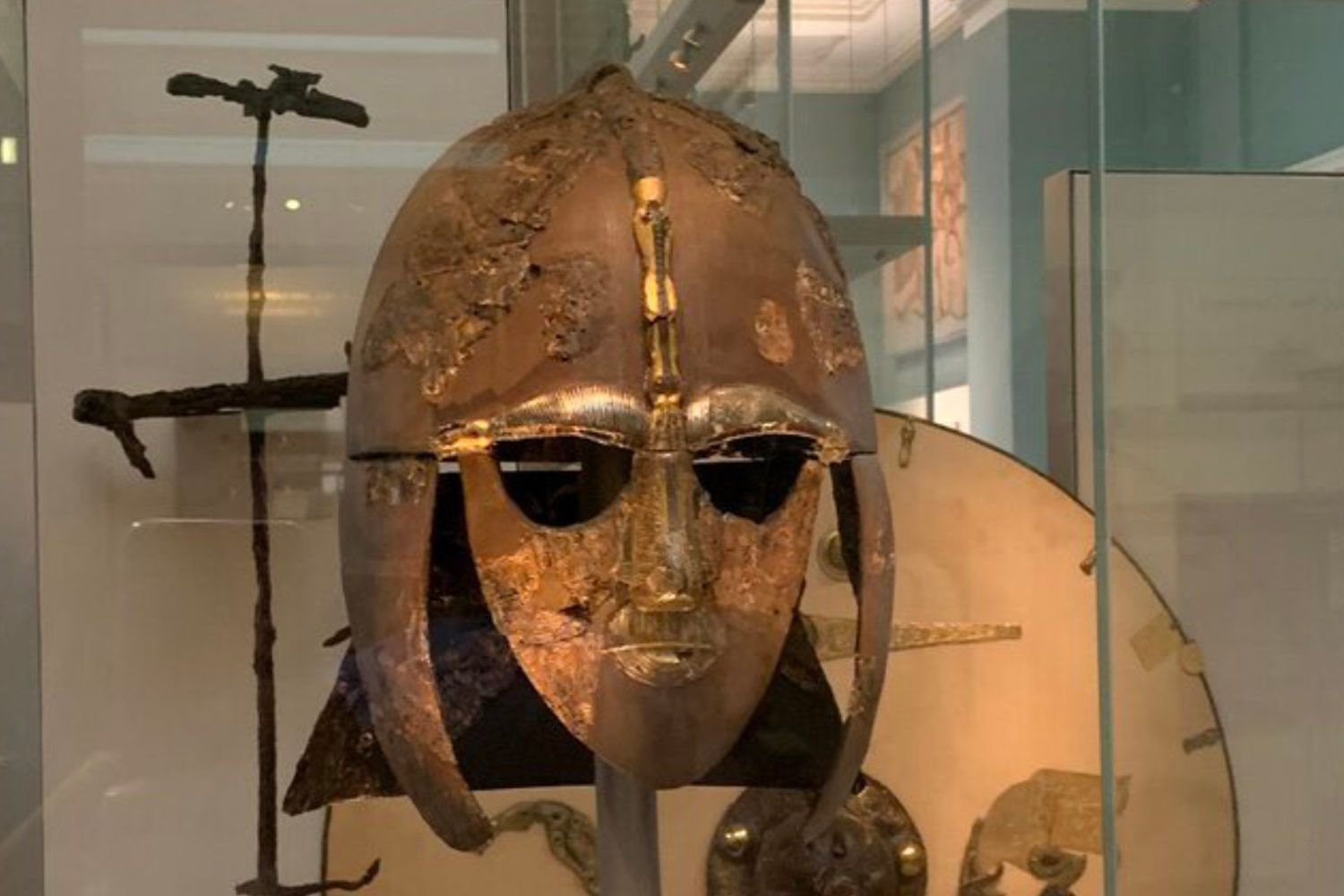 british museum private tour guide sutton hoo mask